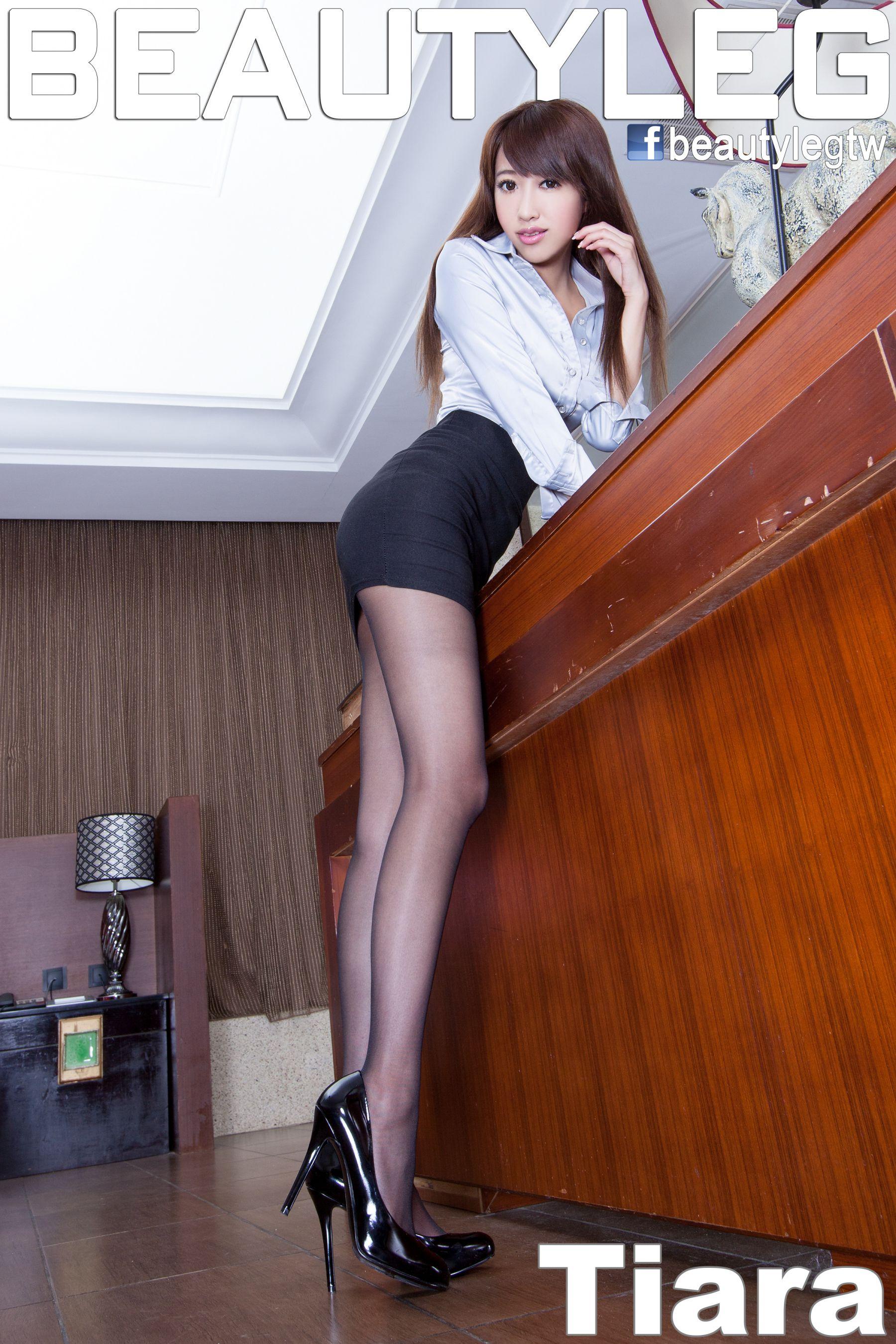 VOL.1464 [Beautyleg]办公室职业装美腿黑丝包臀裙美女:钟小八(腿模Tiara,钟明洁)高品质写真套图(59P)