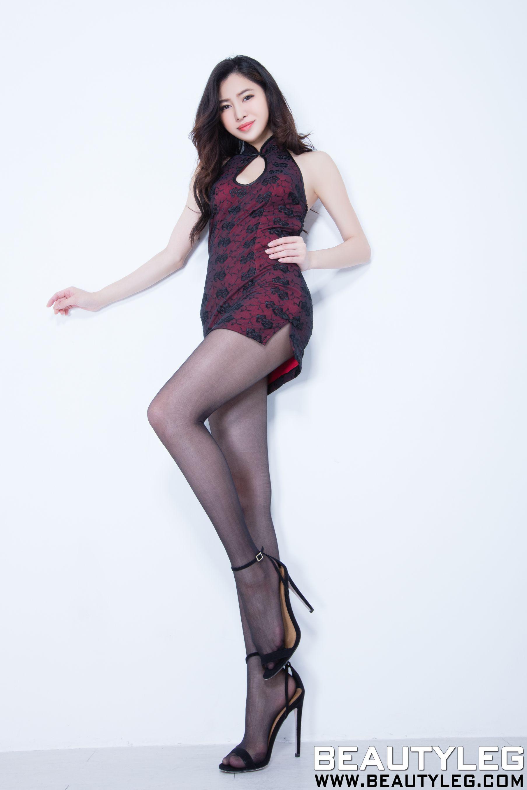 VOL.1855 [Beautyleg]美腿旗袍黑丝:林昱(腿模Lynn)高品质写真套图(51P)