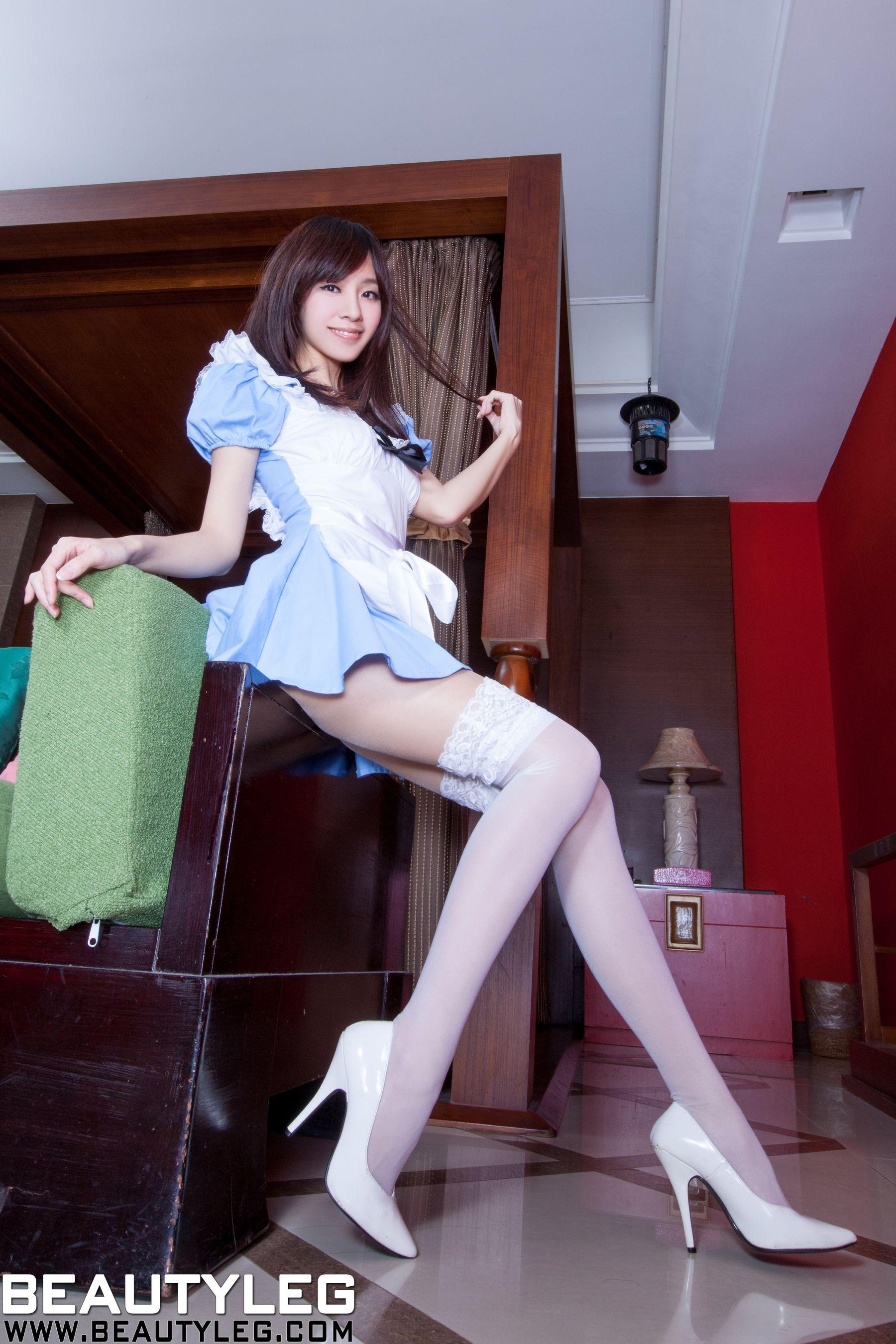 VOL.260 [Beautyleg]女仆白丝高跟美腿:林千如(腿模Anita)高品质写真套图(51P)