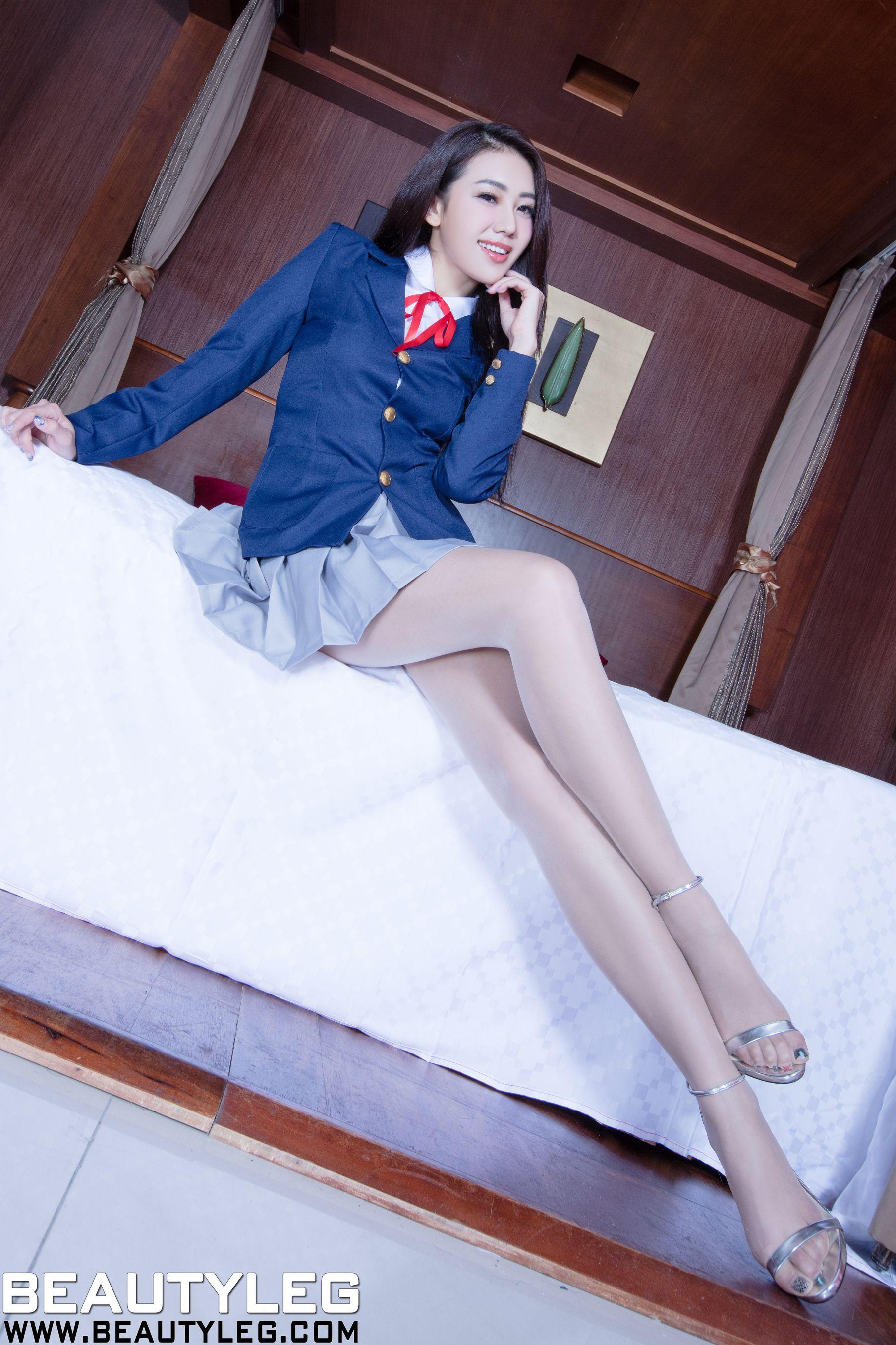VOL.1141 [Beautyleg]校服美腿:钱洪琳(腿模Jennifer)高品质写真套图(45P)