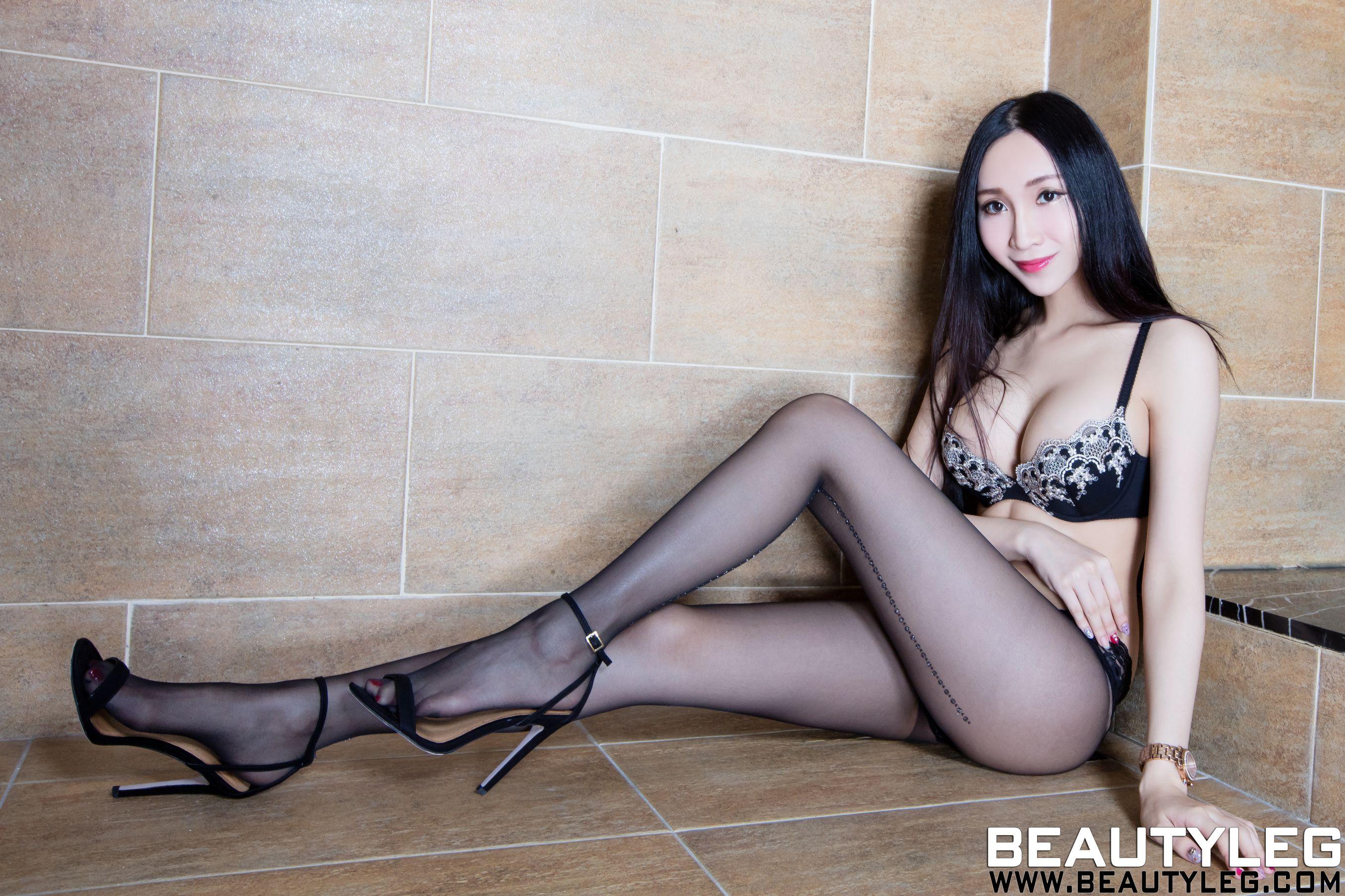 VOL.457 [Beautyleg]美腿高跟内衣美女高跟凉鞋E罩杯:吴美希(腿模Miki)高品质写真套图(44P)