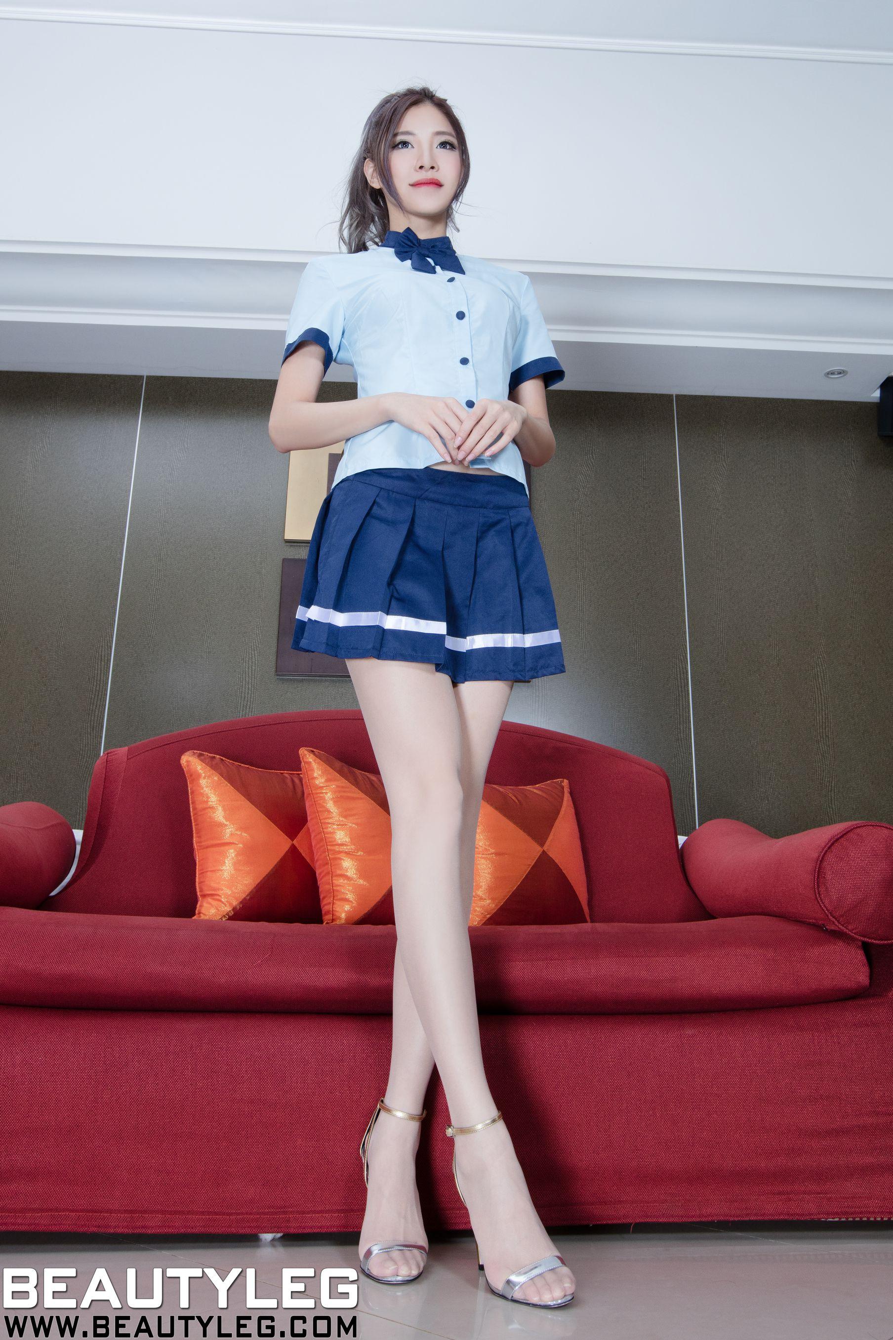 VOL.1476 [Beautyleg]美腿吊带丝袜:陈玉雪(腿模Abby)高品质写真套图(39P)