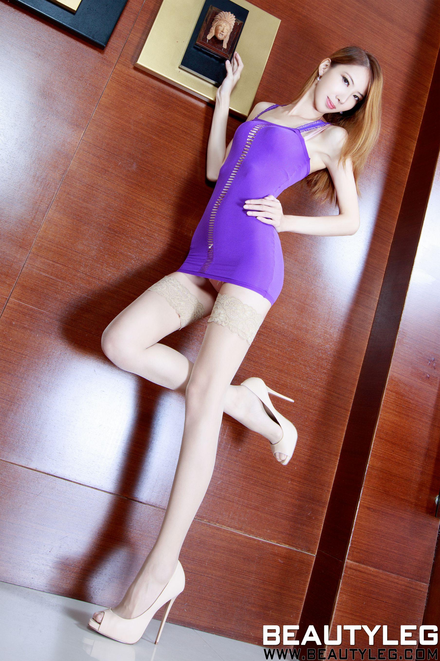 VOL.878 [Beautyleg]吊带丝袜高跟美腿:童采萱(Beautyleg Yoyo,腿模Yoyo)高品质写真套图(53P)