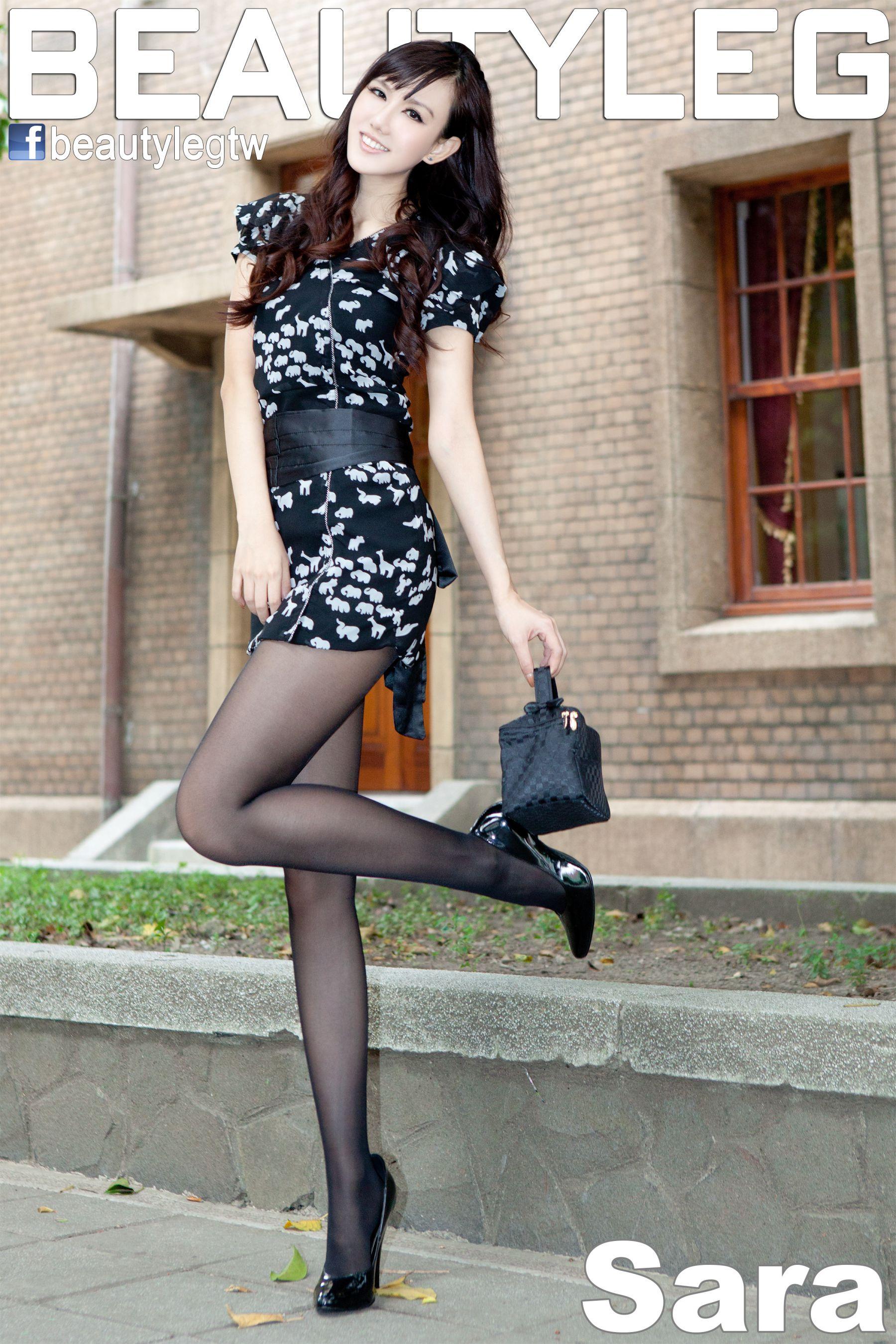 VOL.689 [Beautyleg]丝袜美腿黑丝街拍黑丝街拍美腿:林瑞瑜(Beautyleg Sara,腿模Sara)高品质写真套图(49P)