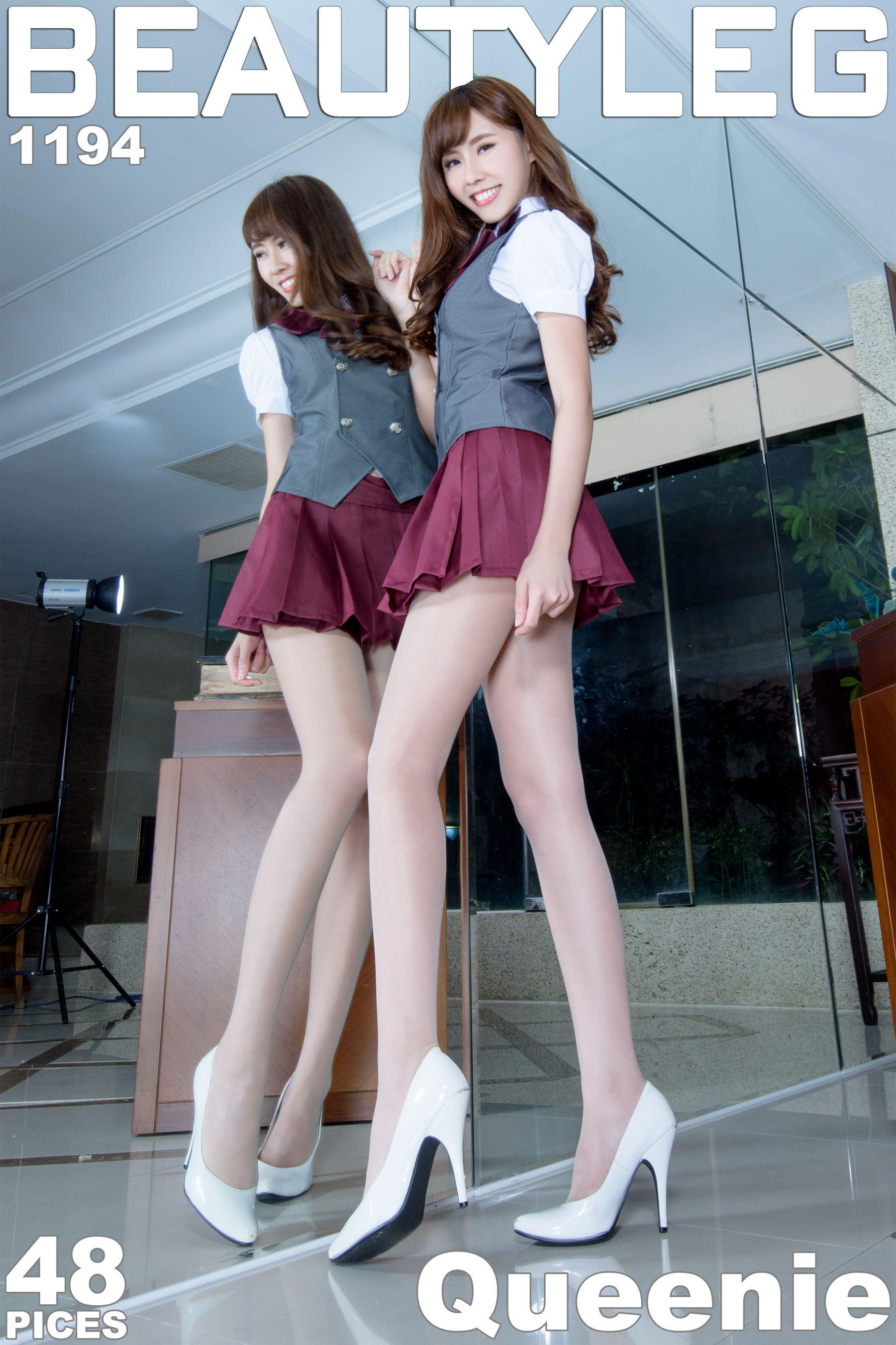 VOL.1299 [Beautyleg]制服高跟美腿:郭珉妏(腿模Queenie)高品质写真套图(43P)