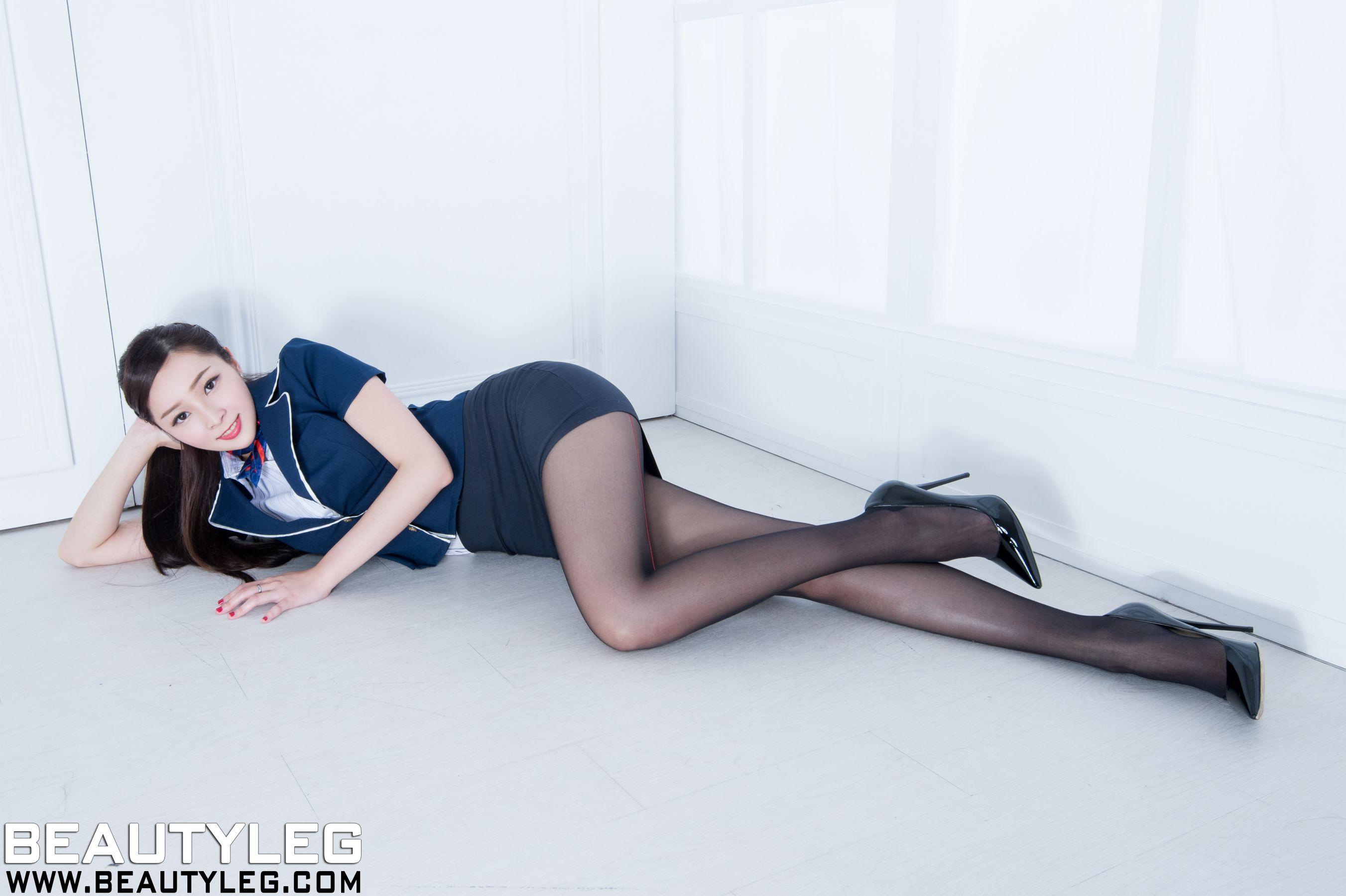 VOL.625 [Beautyleg]黑丝高跟美腿:纪蓁(腿模Hannah)高品质写真套图(35P)