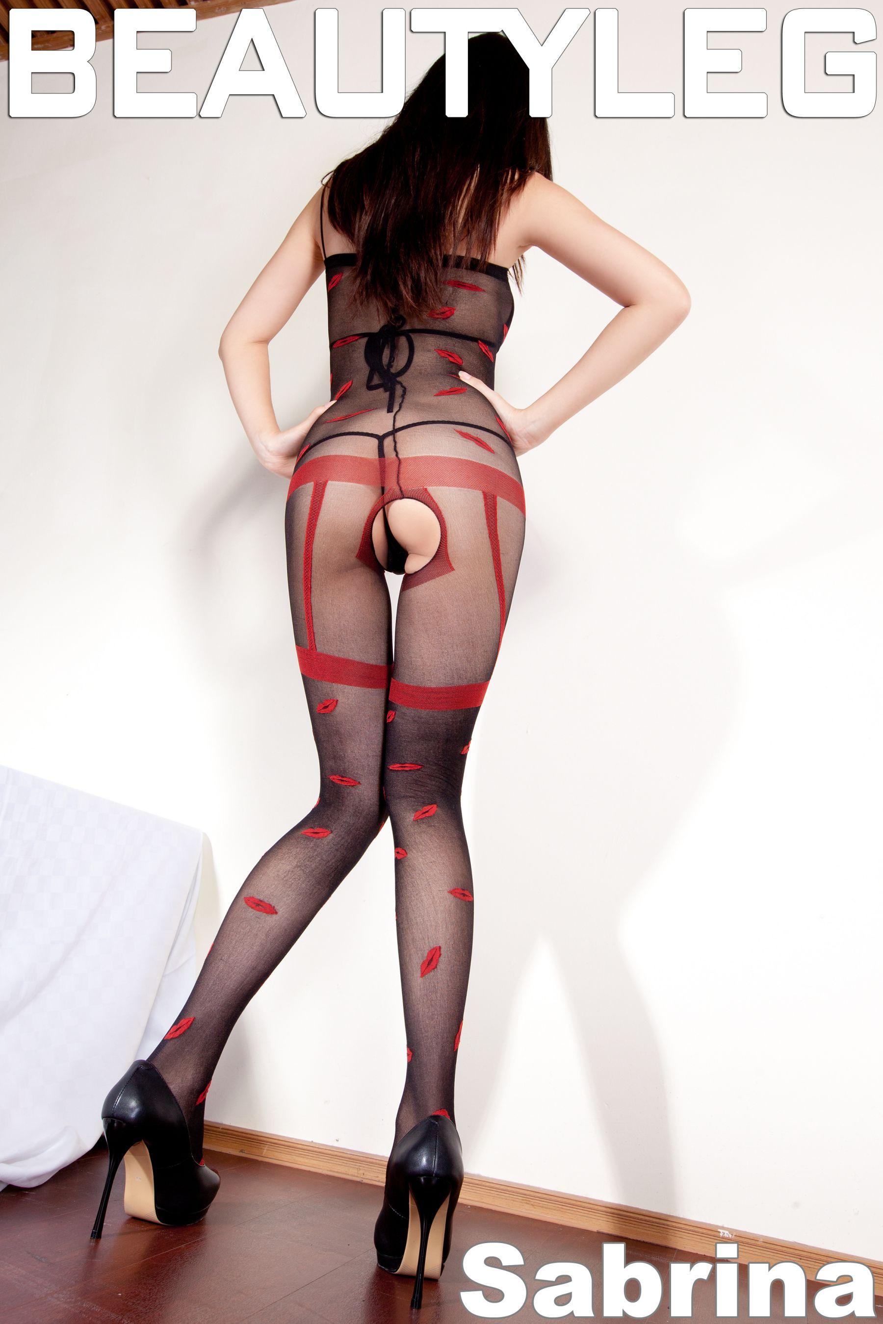 VOL.1017 [Beautyleg]美腿丁字裤情趣丝袜:腿模Sabrina高品质写真套图(54P)
