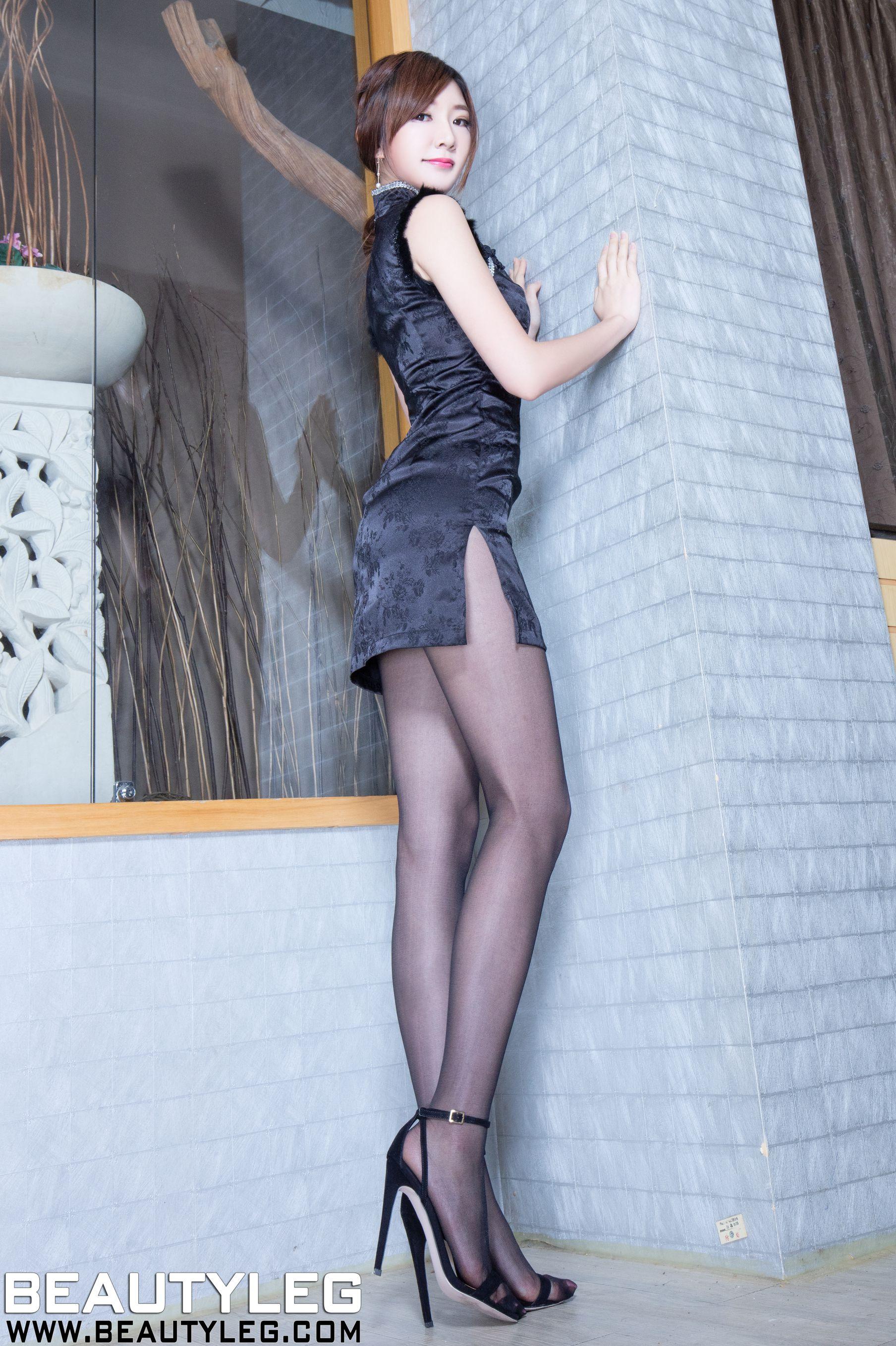 VOL.657 [Beautyleg]美腿旗袍黑丝:谢馥羽(腿模Michelle,Michelle小羽)高品质写真套图(38P)