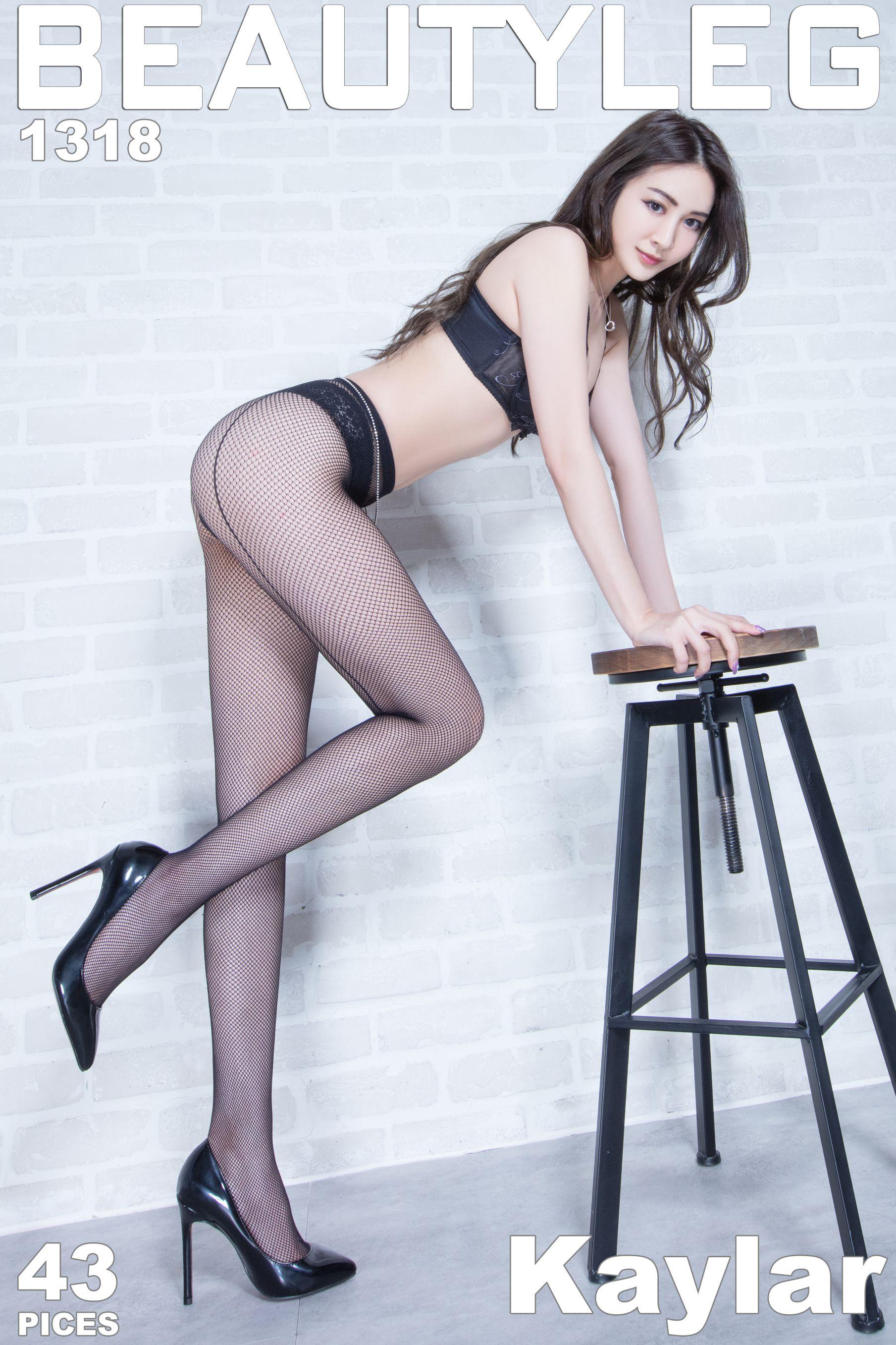 VOL.1715 [Beautyleg]灰丝高跟美腿:康凯乐(腿模Kaylar)高品质写真套图(38P)