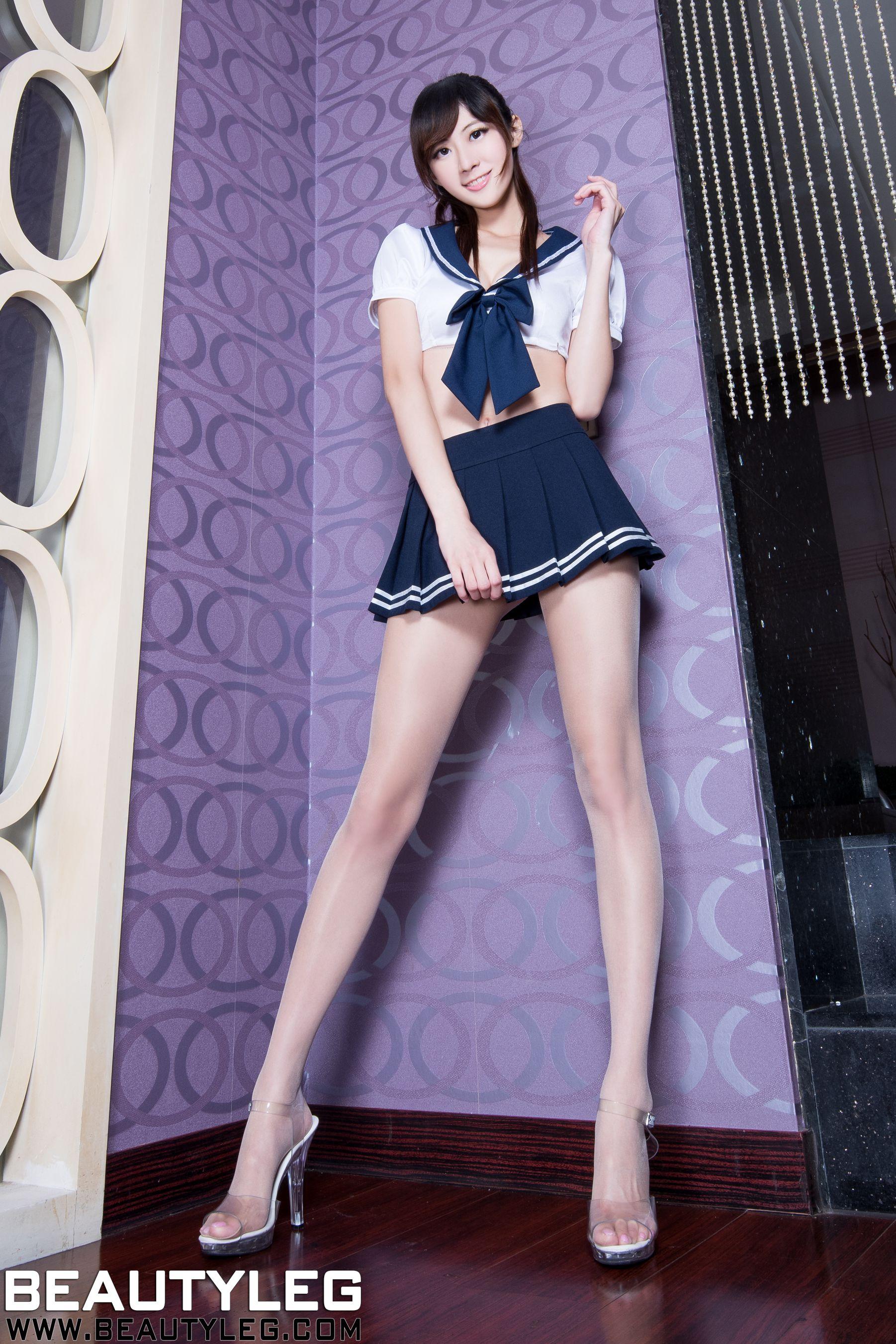VOL.1108 [Beautyleg]校服美腿水手服:林茉晶(腿模Queena)高品质写真套图(52P)