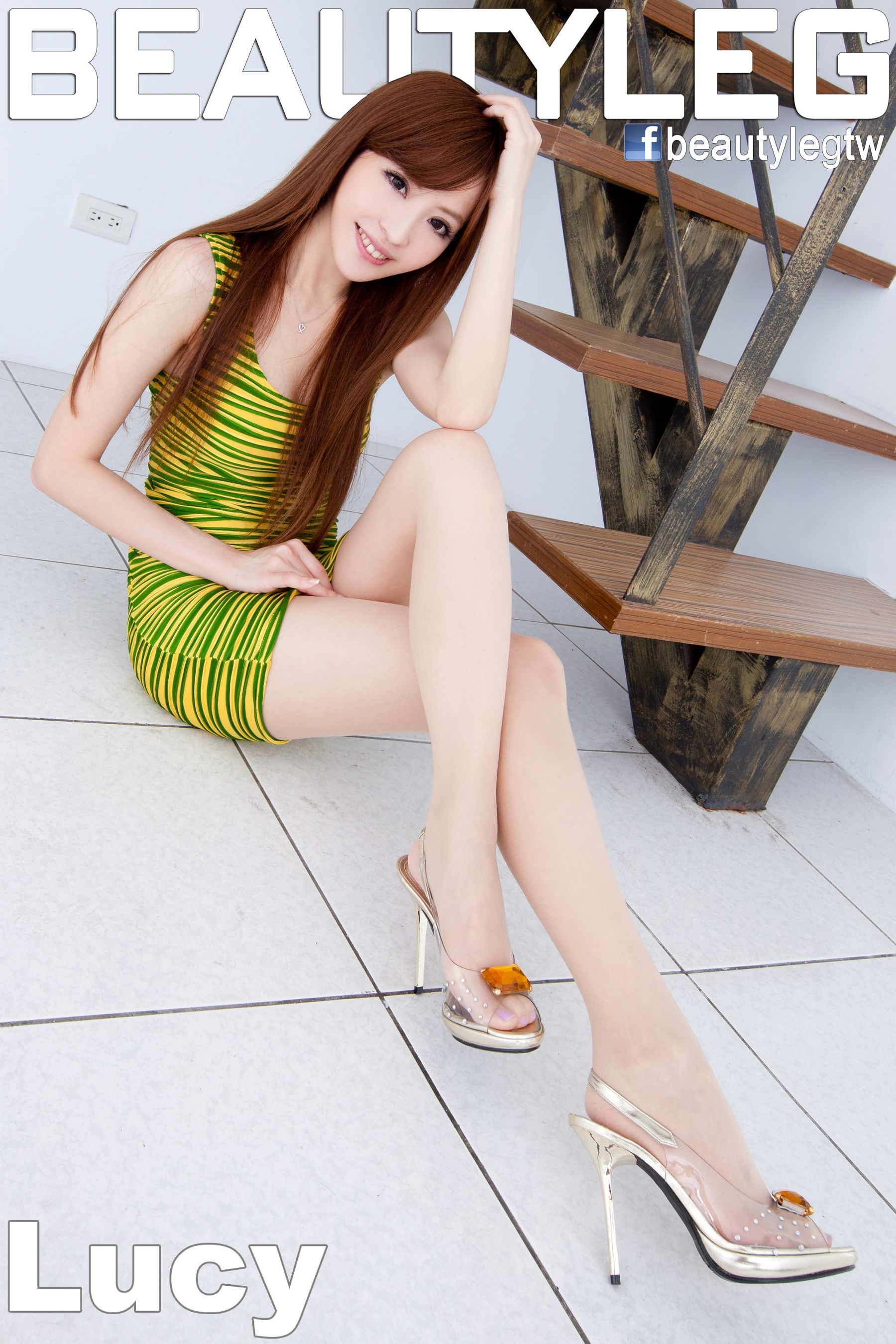 VOL.716 [Beautyleg]甜美包臀裙美女长腿美女:倪千凌(腿模Lucy,陈佳筠)高品质写真套图(62P)
