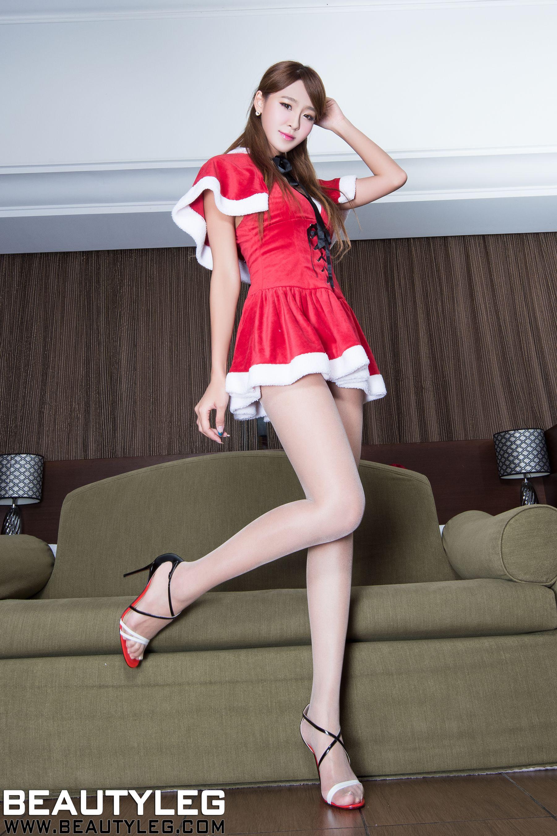 VOL.1295 [Beautyleg]美腿圣诞:Winnie小雪(庄咏惠,庄温妮,腿模Winnie)高品质写真套图(19P)