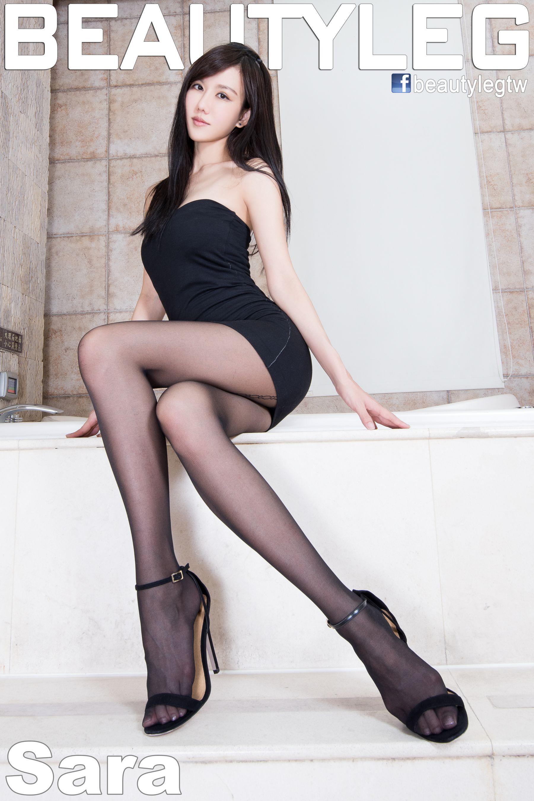 VOL.1603 [Beautyleg]美腿黑丝高跟高跟凉鞋:林瑞瑜(Beautyleg Sara,腿模Sara)高品质写真套图(53P)