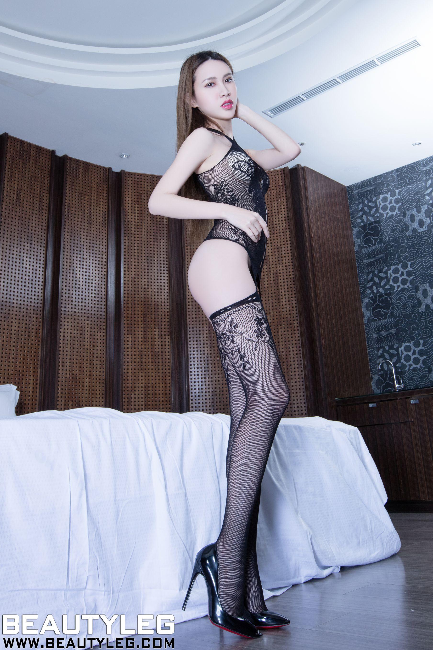 VOL.1282 [Beautyleg]丝袜美腿高跟情趣丝袜吊带丝袜网衣:崔多朵(崔德蓉,腿模Stephy)高品质写真套图(52P)