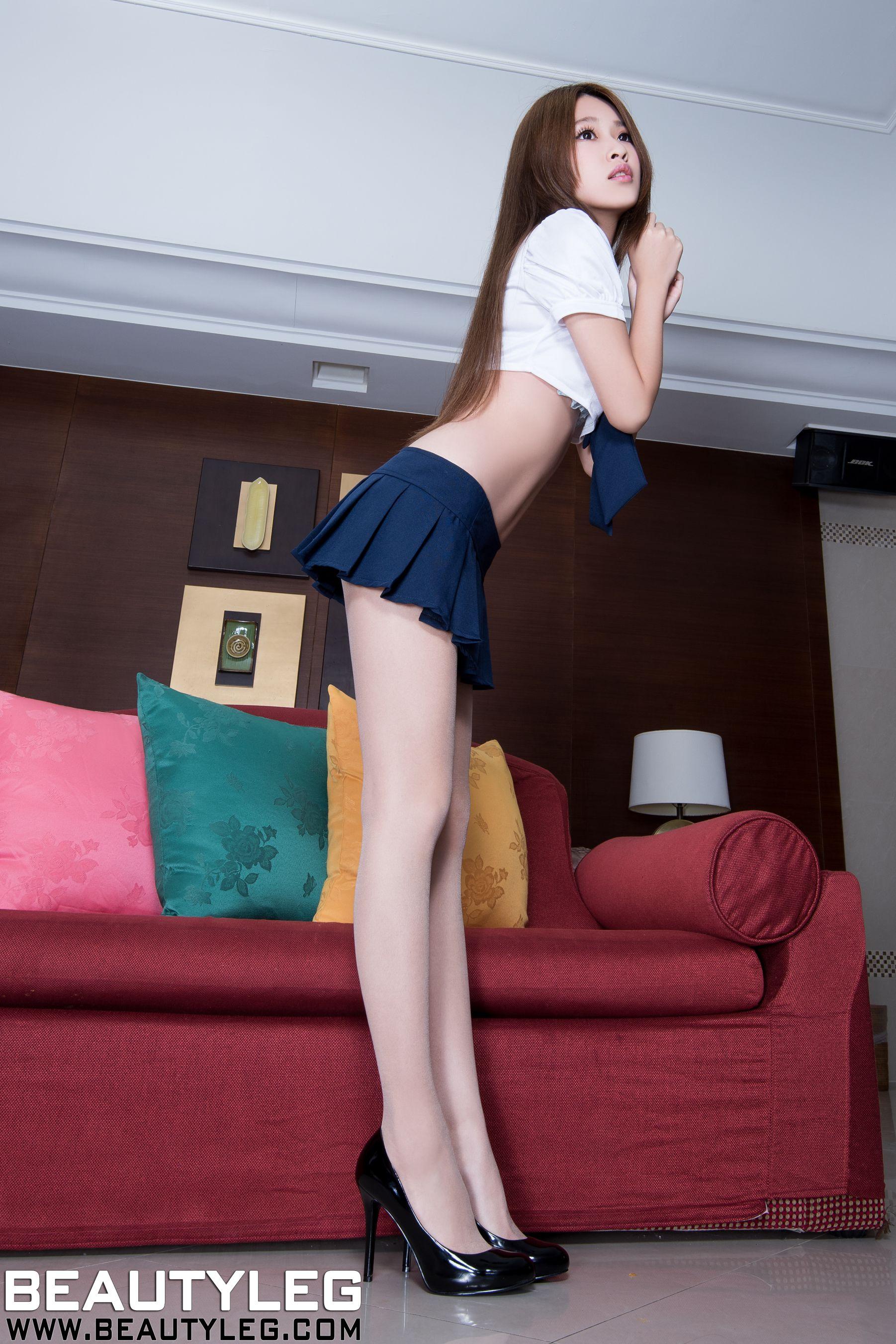 VOL.1760 [Beautyleg]校服水手服高跟美腿:卢昕妤(艾瑞丝,腿模Aries)高品质写真套图(65P)