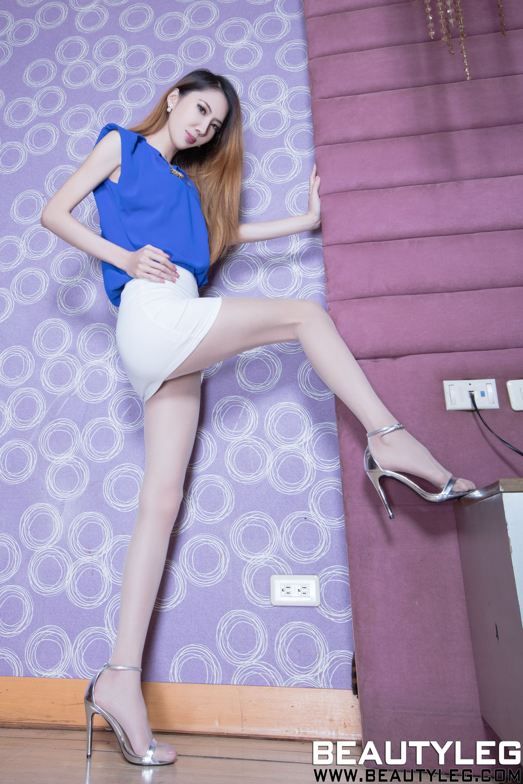 VOL.250 [Beautyleg]美腿情趣丝袜:童采萱(Beautyleg Yoyo,腿模Yoyo)高品质写真套图(42P)